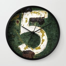 urban typography Nº5 – graphic art Wall Clock