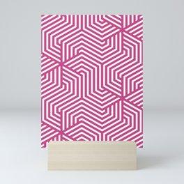 Smitten - violet - Minimal Vector Seamless Pattern Mini Art Print