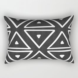 Big Triangles in Black and White Rectangular Pillow