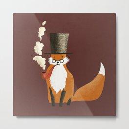 Fancy Fox Metal Print