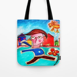 Run away from the bird Tote Bag