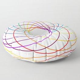 Spiranbow Graph Floor Pillow