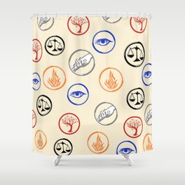The factions Shower Curtain