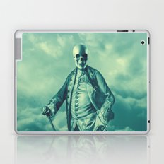 Lord Bonehead VINTAGE GREEN / Skeleton portrait Laptop & iPad Skin