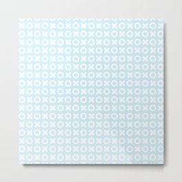 XOXO ((baby blue)) Metal Print
