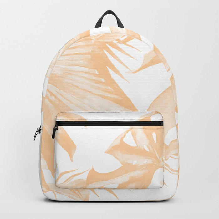 Island Vacation Hibiscus Palm Coral Backpack