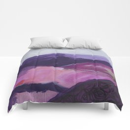 Roses Aren't Red 2 - Contemporary Abstract Landscape Comforters