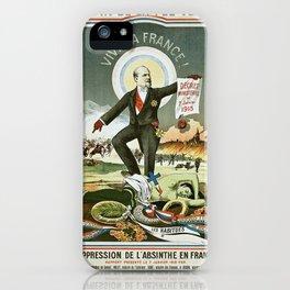 Vintage poster - La Finn de la Fee Verte iPhone Case