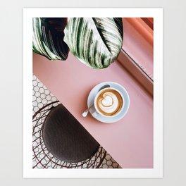 pink latte Art Print