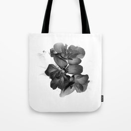 Black Geranium in White Tote Bag