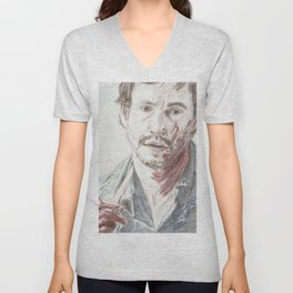 Bloody Will Graham, original colored pencil drawing Unisex V-Neck