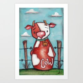 COW - by Diane Duda Art Print