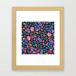 Asian-Inspired Luxurious Floral Pattern Framed Art Print