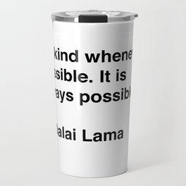 Dalai Lama on Kindness Travel Mug