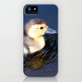 Cute Duckling Swimming in a Pond iPhone Case