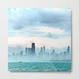 Foggy Michigan Sea Metal Print