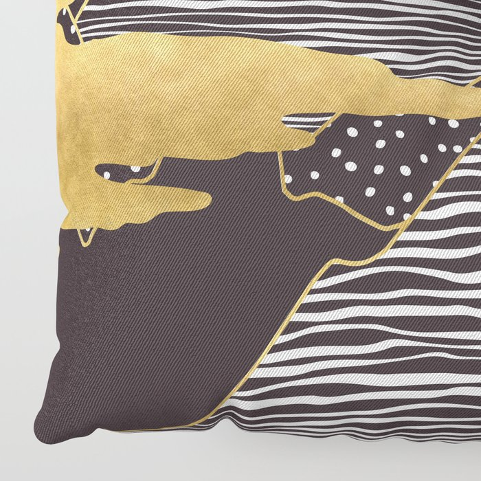 Gold Mountain Peaks Floor Pillow