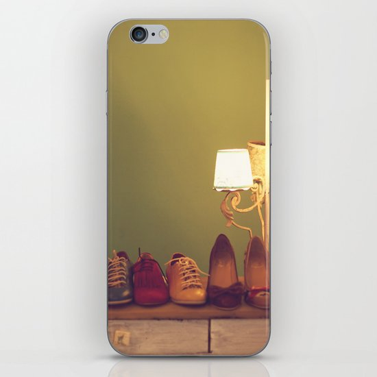 Dancing Shoes and Heels (retro and vintage girly shoes and heels with a lovely lamp) iPhone Skin
