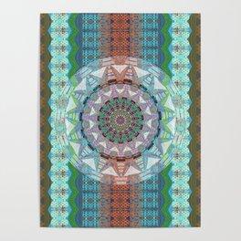 A Mandala is Born Earth Tone Boho Lace Geometric Poster