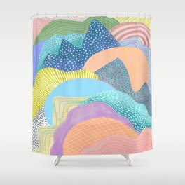 Modern Landscapes and Patterns Shower Curtain