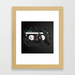 Retro classic vintage Black cassette tape Framed Art Print