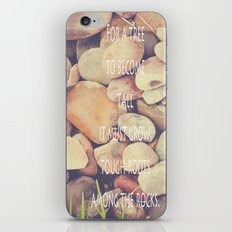 Rocks with words iPhone & iPod Skin