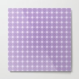 Purple Tribal Motif Pattern Metal Print
