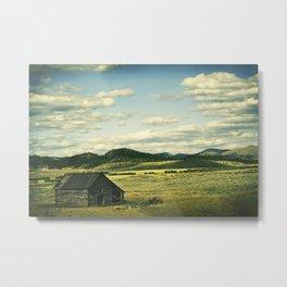 Old Barn, Vintage Cross-Processed Effect Metal Print