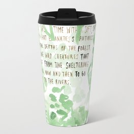 """""""Conquest of the Useless"""" by Werner Herzog Print (v. 2) Travel Mug"""