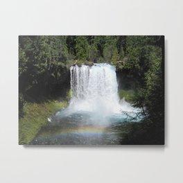 Reflections on Rainbows at Punchbowl Falls Metal Print