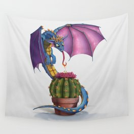 Cactus-flower Dragon Wall Tapestry