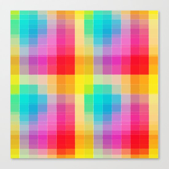 Rainbow grid Canvas Print