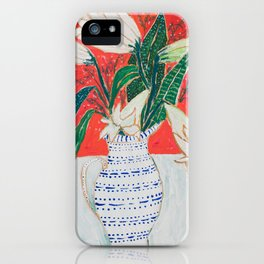Easter Lily Bouquet iPhone Case