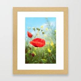 Technicolour Poppy Framed Art Print