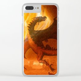 Dragon's world Clear iPhone Case