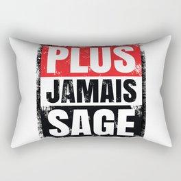 Plus Jamais Sage Rectangular Pillow