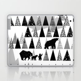 Black and white Forest Laptop & iPad Skin