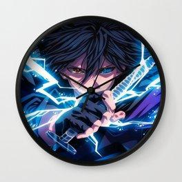 sasuke chidori Wall Clock