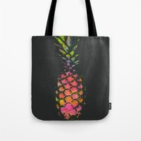 pineapple Tote Bags featuring Pineapple by Georgiana Paraschiv