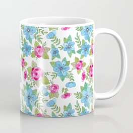 Blue Lilly Watercolor Coffee Mug