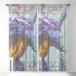 Neon Genesis Evangelion Unit-01 Sheer Curtain