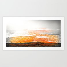 Black & White & Red Pacific Art Print