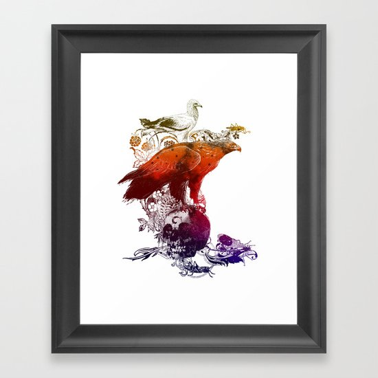 the watchers 3 color version Framed Art Print