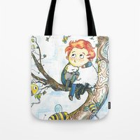 cabin pressure Tote Bags featuring Cabin Pressure: Uskerty by theo-doras