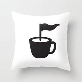 Caffee Point Throw Pillow