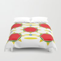 power Duvet Covers featuring Power by Marie Mirbekian(JM)