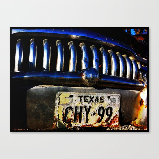 TEXAS PLATE Canvas Print