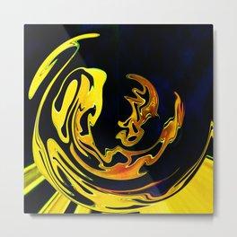 Golden Curves 3 Metal Print