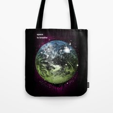 Space To Breathe Tote Bag