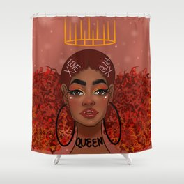 Foxy Fro Shower Curtain